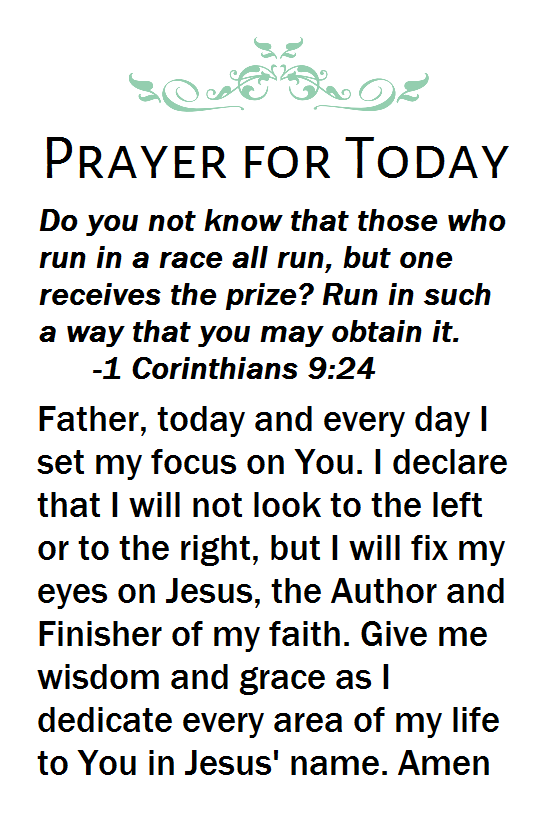 Prayer on Cor verse 4-11-16